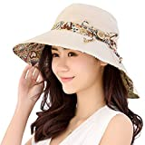 Product review of HindaWi Womens Sun Hat Summer UPF 50+ UV Protection Beach Hat Foldable Wide Brim Cap