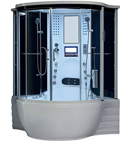 2019 Florence Steam Shower Sauna With Jetted jacuzzi Whirlpool massage (White)