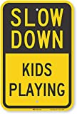 "SmartSign ""Slow Down - Kids Playing"" Sign 