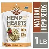 Manitoba Harvest Hemp Hearts Raw Shelled Hemp Seeds, natural flavor, 1 Pound.