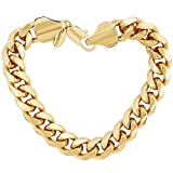 Lifetime Jewelry Cuban Link Bracelet 11MM, Round, 24K Gold Overlay Premium Fashion Jewelry, Guaranteed for Life, 9 Inches