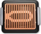 Gotham Steel Indoor Smokeless and Portable Electric Grill Nonstick Copper