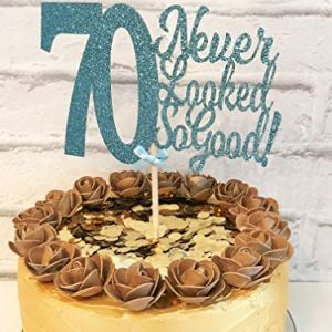 70 Never Looked So Good Cake Topper. 70th Birthday. Seventy Years Young. 70 Party Decoration. Cake Decor Centrepiece 516pv9ICV1L