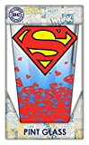 Silver Buffalo SP96031PO DC Comics Superman Logo Fade Pint Glass, 16-Ounces