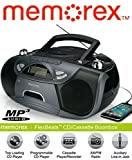 Memorex MP3262 FlexBeats CD/Cassette Boombox - Black (Refurbished)