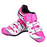 Cycling Shoe,1 Pair Women Cycling Spinning Shoes with Durable Rivets for Indoor Cycling Road Biking (36-Pink)