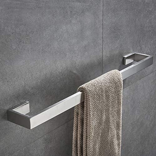 JunSun Matte Black Towel Bar 24-Inch Stainless Steel Towel ...
