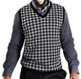 Product review for Blue Ocean Jacquard Houndstooth Sweater Vest