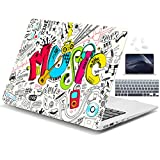 Dongke Plastic Hard Case & Keyboard Cover & Screen Protector Only Fit for MacBook Air 13 Inch Model A1466 / A1369 (2010-2017 Release), Music
