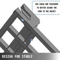 VEVOR-Debris-Forks-for-48-Bucket-Clamp-on-Forks-for-Tractor-2500LBS-Loading-Capacity-Tractor-Forks-Attachment-for-Bucket-Clamp-on-Debris-Forks-wTwo-Chain-Holes-for-Materials-Handling-Steel