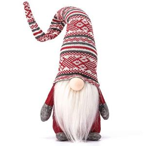 Funoasis-Holiday-Gnome-Handmade-Swedish-Tomte-Christmas-Elf-Decoration-Ornaments-Thanks-Giving-Day-Gifts-Swedish-Gnomes-tomte-Red-Stripe-19-Inches