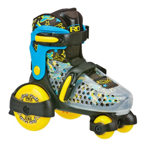 Roller Derby Boy's Fun Roll Adjustable Roller Skate, Medium US(11-2)