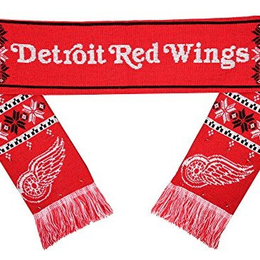 NHL Detroit Red Wings Light Up Scarf, One Size, Red