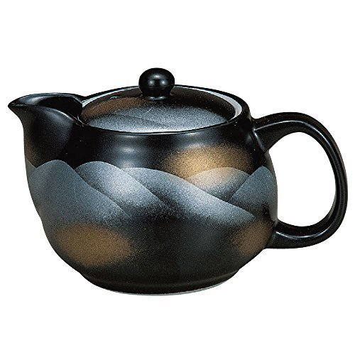 Kutani pottery teapot pot mountain range (with tea strainer)