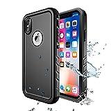 SPORTLINK iPhone X/iPhone Xs Waterproof Case, Waterproof Shockproof Snowproof Clear Slim Case for iPhone X/iPhone Xs (Black)