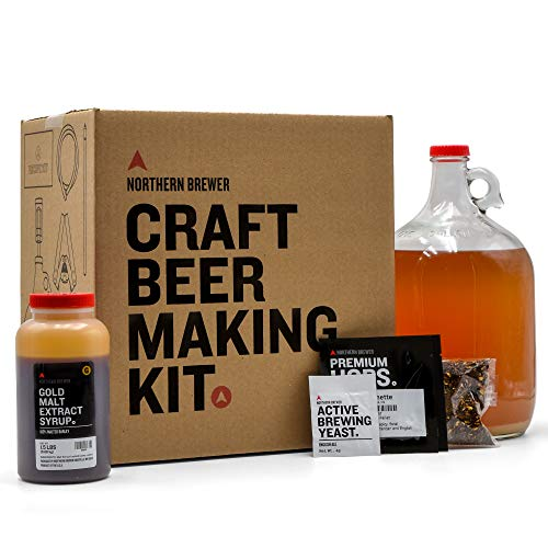 Northern Brewer 1 Gallon Craft Beer Making Starter Kit with American Wheat Beer Recipe Kit - Equipment and Ingredients for Homebrewing Para Hacer Cerveza Artesanal