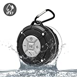 Waterproof Bluetooth Speakers IPX7 Outdoor Portable Shower Wireless Speaker with HD Sound, Enhance Bass, Suction Cup, Built-in Mic, Bluetooth 4.2, Hand-Free Speaker