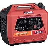 Rainier R2200i Super Quiet Portable Inverter Generator - 1800 Running & 2200 Peak - Gas Powered - CARB Compliant