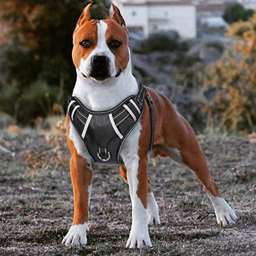 BABYLTRL Big Dog Harness No Pull Adjustable Reflective Oxford Soft Vest for Large Dogs