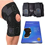 Noova Knee Brace For Meniscus Tear - Best Braces For Patella Support For Men & Women Open Patellar Tendon Strap For Stabilizing & Reducing Pain Due To Arthritis Running Gym Workout Crossfit or Sports