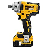 DEWALT 20V MAX XR Cordless Impact Wrench Kit with Detent Pin Anvil, 1/2-Inch (DCF894P2)