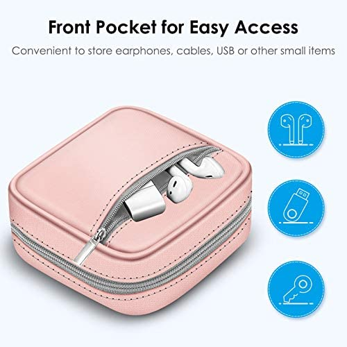 FINPAC Charger Case for MacBook, Small Electronic Organizer Bag for MacBook Power Adapter, Portable Pouch Travel Storage for Laptop Accessories, Magic Mouse, USB Drives, GoPro, Gadgets, Tech Gear