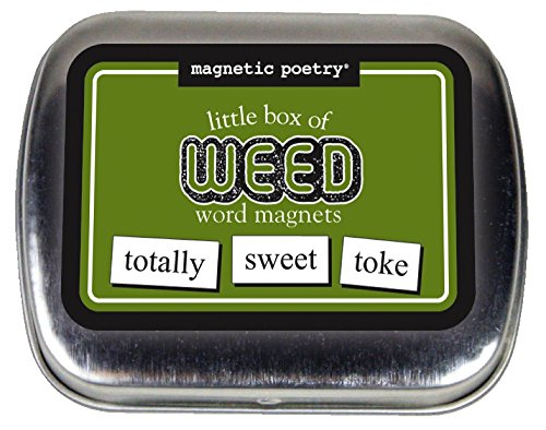 Magnetic Poetry - Little Box of Weed Kit - Words for Refrigerator - Write Poems and Letters on the Fridge...