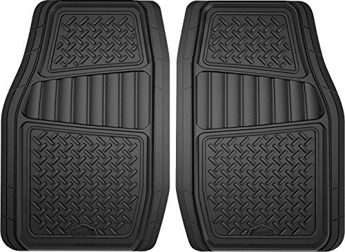 Custom Accessories Armor All 78830 2-Piece Black All Season Truck/SUV Rubber Floor Mat
