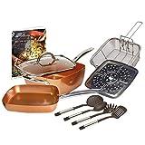 Copper Chef 10 Piece Cookware Set -...