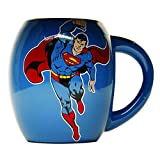 Silver Buffalo SP4444 DC Comics Superman Flying Blue Oval Curved Ceramic Mug, 18-Ounces