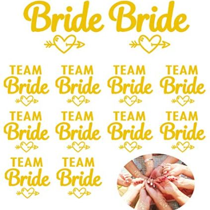 InnoBase-12pcs-Team-Bride-Tatouages-Temporaires-de-Bridemaid-Mtalliques-Impermable-Tatouages-de-Marie-pour-Bachelorette-Partie-Accessoires-Style-B