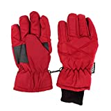 SANREMO Unisex Kids Thinsulate and Waterproof Cold Weather Ski Gloves (8-12 Years, Red)