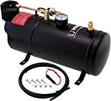 Vixen Horns 1 Gallon (3 Liter) Train/Air Horn Tank with 150 PSI Compressor Onboard System/Kit 12V VXO8210