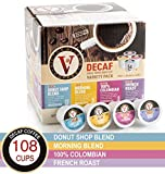 Decaf Coffee Variety Pack for K-Cup Keurig 2.0 Brewers, 108 Count Victor Allen's Coffee Medium Roast Single Serve Coffee Pods