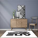 Extra Thick Comfortable Rug suv logo design car crossover vector illustration for Living Room Dining Room Family 5' X 7'