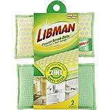 Libman 336 Power Scrub Dots Kitchen and Bath Sponge