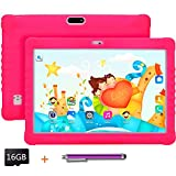 Kids Tablet 10.1 inch Display, Kids Mode Pre-Installed, with WiFi, Bluetooth and Games, 16GB SD Card, Stylus Pen, Quad Core Processor, 1280x800 IPS HD Display (Pink)