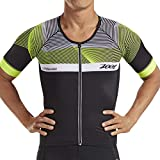Zoot Men's Ultra Short Sleeve Aero Tri Jersey - Performance Triathlon Top with Carbon Fiber and 2 Pockets (Medium)