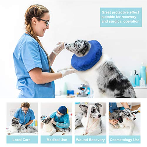 Laboratory 29 Inflatable Dog Collar, Comfy Cone for Dogs, Dog Recovery Collar, Soft Dog Cone, Dog Cone for Dogs and Cats, Washable, Bite and Scratch Resistant (Medium) deal 50% off 517EB3x1EQL