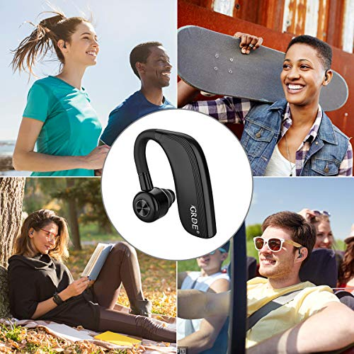 Cuffie Bluetooth Senza Fili,25 ORE Auricolari Wireless Sport con Microfono HD,v4.2,Ruotabile 360°,Supporto Orecchio Sinistro/Destro,Collegare Due Dispositivi,per Sport/Lavoro/Guida