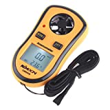 KKmoon Wind Speed Gauge, GM8908 LCD Portable Digital Pocket Wind Speed Temperature Measure Gauge Anemometer Wind Speed Meter Thermometer
