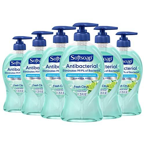 Softsoap Antibacterial Liquid Hand Soap, Fresh Citrus – 11.25 Fluid Ounce (6 Pack)