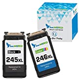 InkWorld Remanufactured Ink Cartridge Replacement for Canon 243 244 245 246 XL Compatible with Pixma MG2522 MX492 MG2520 MG2920 MG2420 MX490 MG2525 MG2555 MG3020 (1 Black and 1 Color)