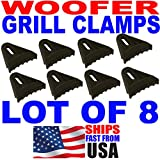 American Terminal 8 Lot Sub Woofer Speaker Grill Clips Subwoofer Clamps Grille 8 Pieces