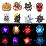 Halloween LED Light-up Necklace 8PC,Halloween Party Favors Set for Kids and Adults Goodie Bag Filler