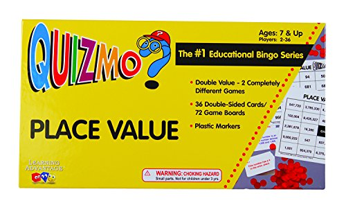 Learning Advantage 8240 QUIZMO Place Value Card