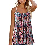 Women Tops Summer Printed Sleeveless Vest Blouse Tank Tops Camis Clothes