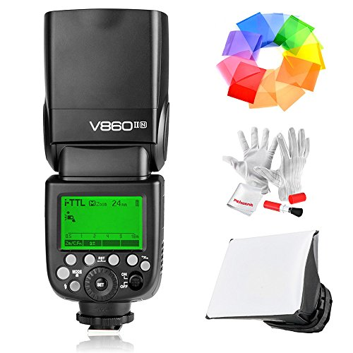 Godox Ving V860IIN 2.4G GN60 I-TTL HSS 1/8000s Li-ion Battery Camera Flash speedlite 1.5S Recycle Time 650 Ful Power Pops Supports TTL/M/Multi/S1/S2 for Nikon DSLR Cameras