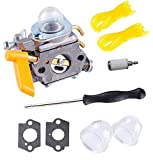 C1U-H60 Carburetor for Ryobi 26cc Homelite 25cc Fuel Line Primer Bulb Adjusting Tool Kit 30cc String Trimmer Backpack Blower Weed Eater Carb