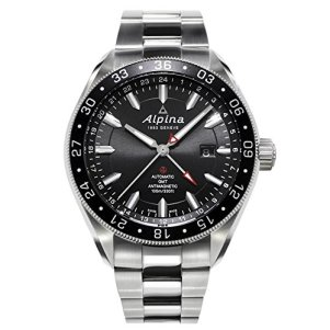 Alpina Alpiner 4 GMT Automatic Black Dial Stainless Steel Mens Watch AL-550G5AQ6B